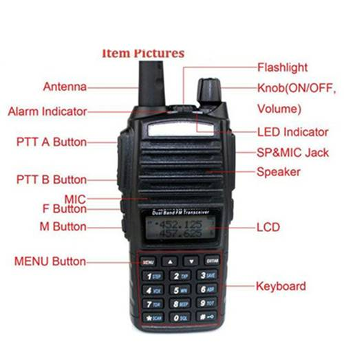 BAOFENG UV82 Dual Band 8W Walkie Talkie - 8KM