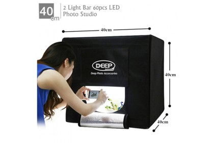 DEEP Professional LED Photography Studio Light Box - 40*40cm