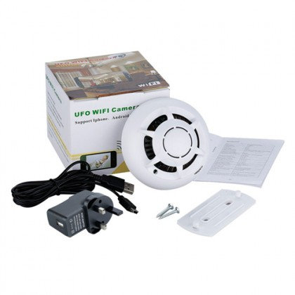 UFO Smoke Detector WiFi Spy Hidden Camera
