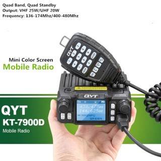QYT KT-7900D Quad Band 25W Mini Amateur Radio/Mobile Radio