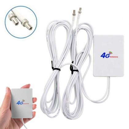 4G LTE 28dbi TS9 Dual Connector 700~2700mhz Mini Panel Antenna