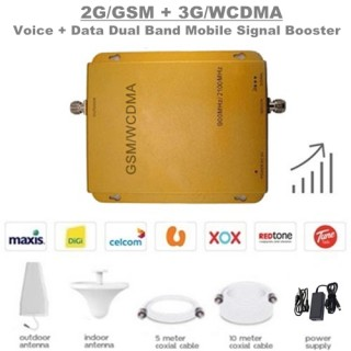2G/GSM & 3G/WCDMA Dual Band Mobile Signal Booster Amplifier Repeater