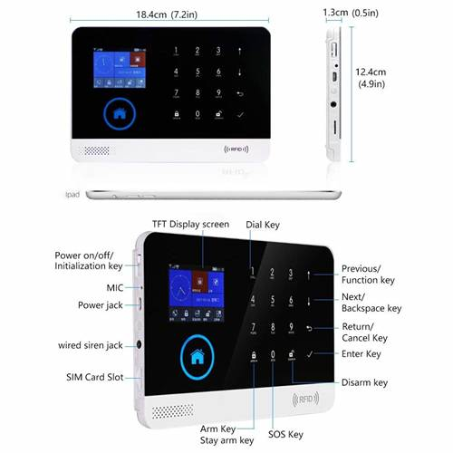Smart Security 433mhz Wireless GSM & WiFi Anti-Theft Home/Office Alarm System