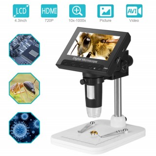 "DM4 1000x Zoom 4.3"" LCD Display Portable Digital Microscope"