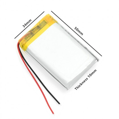 103450 3.7V 2000mAh Rechargeable Lithium Polymer Battery