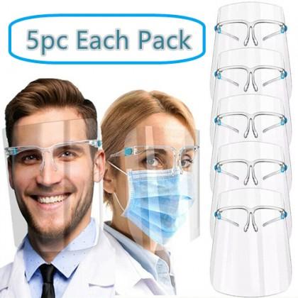 5pc Anti-Fog Protective Glasses Face Shield