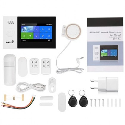 Smart Life PG-107 433mhz Wireless Gsm & WiFi Anti-Theft Home/Office Alarm System